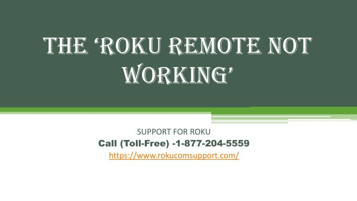 the roku remote not working n.