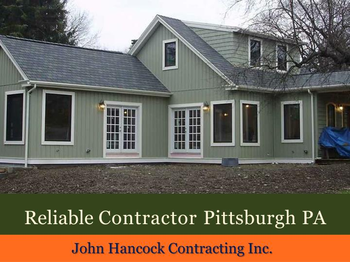 reliable contractor pittsburgh pa n.
