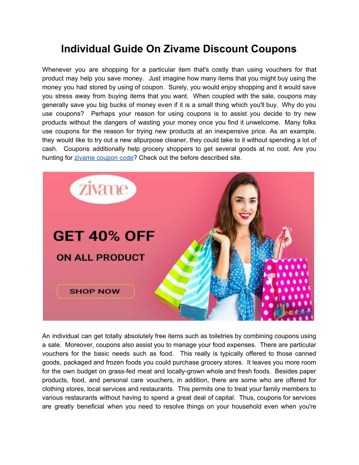 individual guide on zivame discount coupons n.