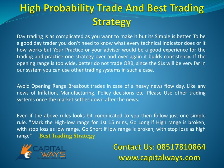 PPT - High Probability Trade And Best Trading Strategy