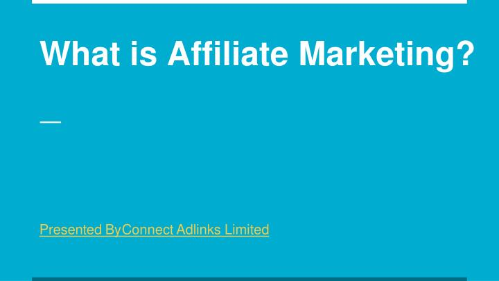what is affiliate marketing n.