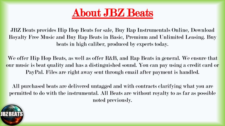 PPT - Instrumentals for Sale for Do Mixing & Mastering and make