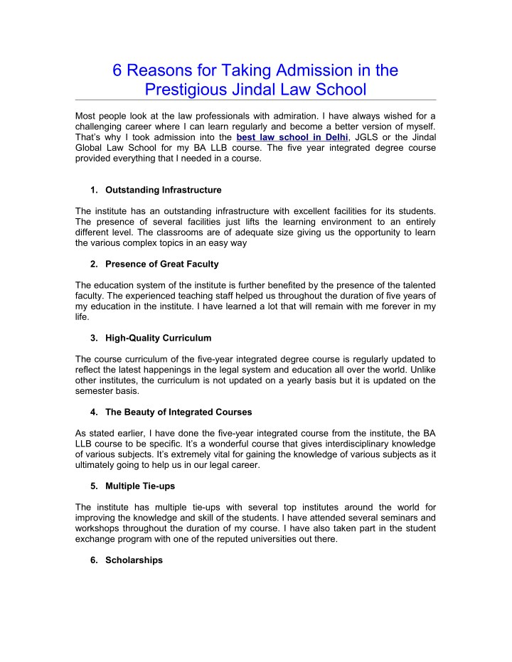 6 reasons for taking admission in the prestigious n.