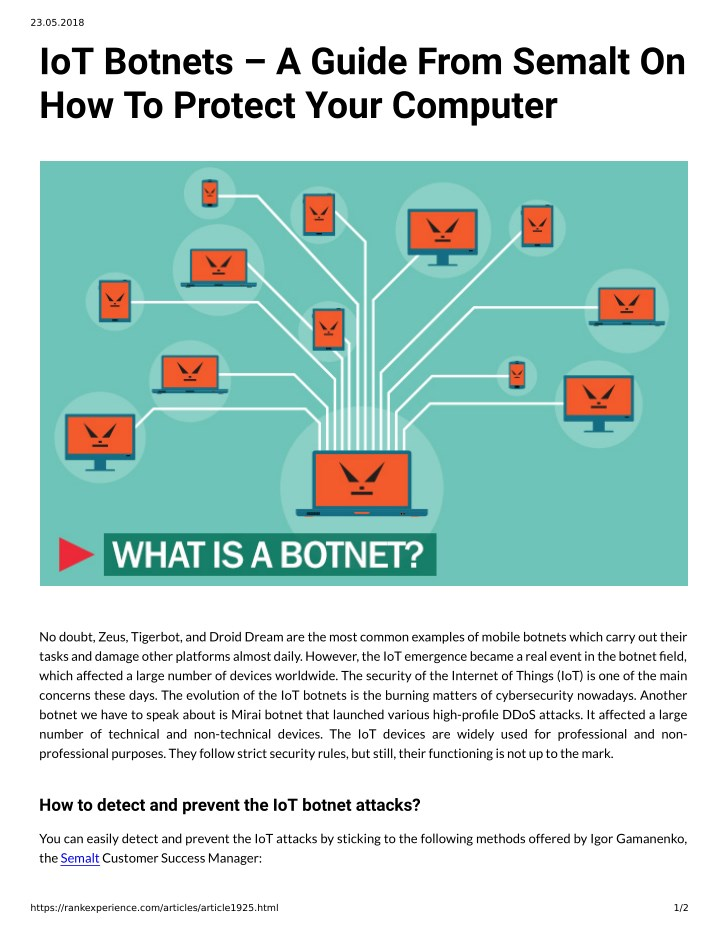 PPT - IoT Botnets A Guide From Semalt On How To Protect Your