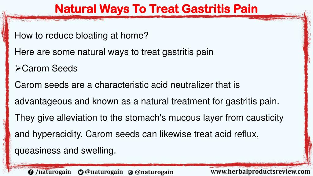 PPT - Natural Ways to Treat Gastritis Pain and Reduce