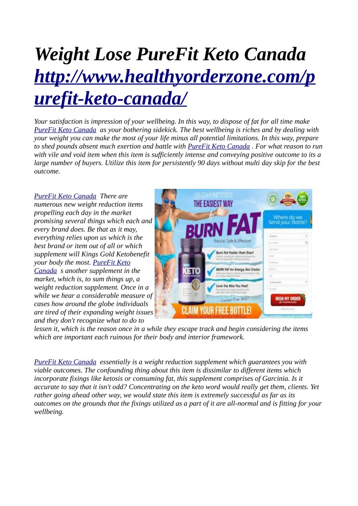 weight lose purefit keto canada http n.