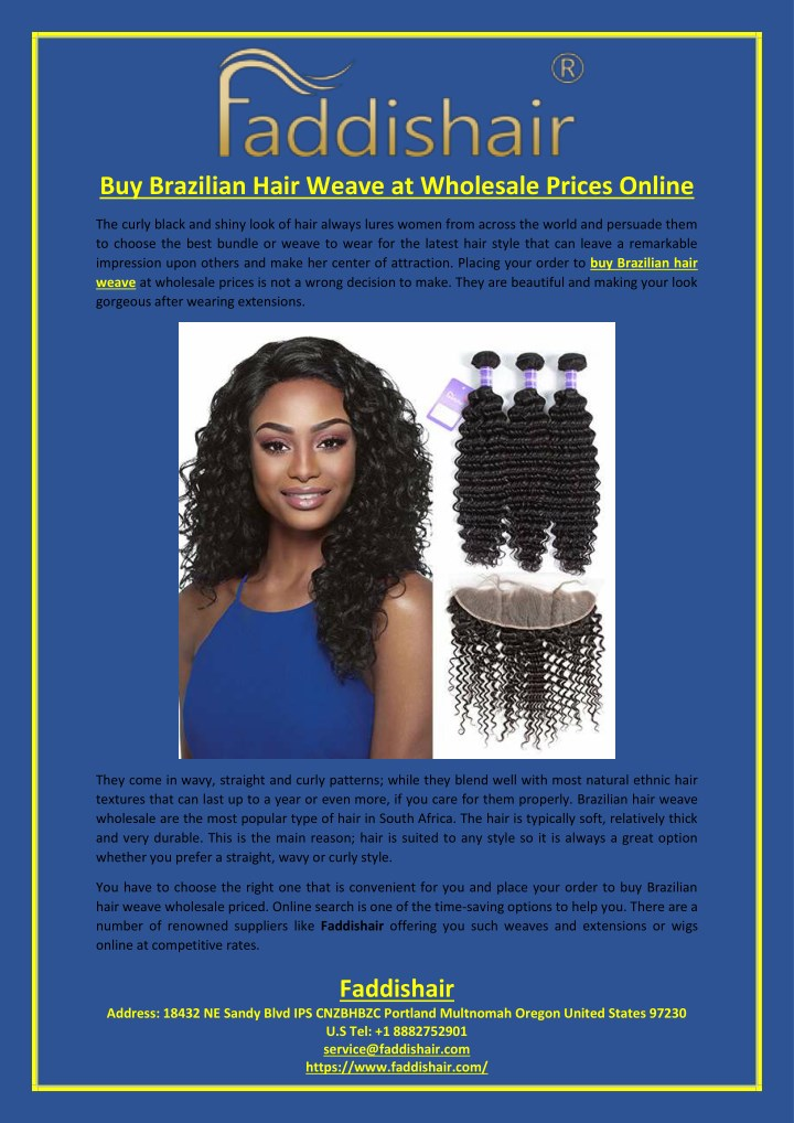 PPT - Buy Brazilian Hair Weave at Wholesale Prices Online PowerPoint ... 5ee82ca9ae