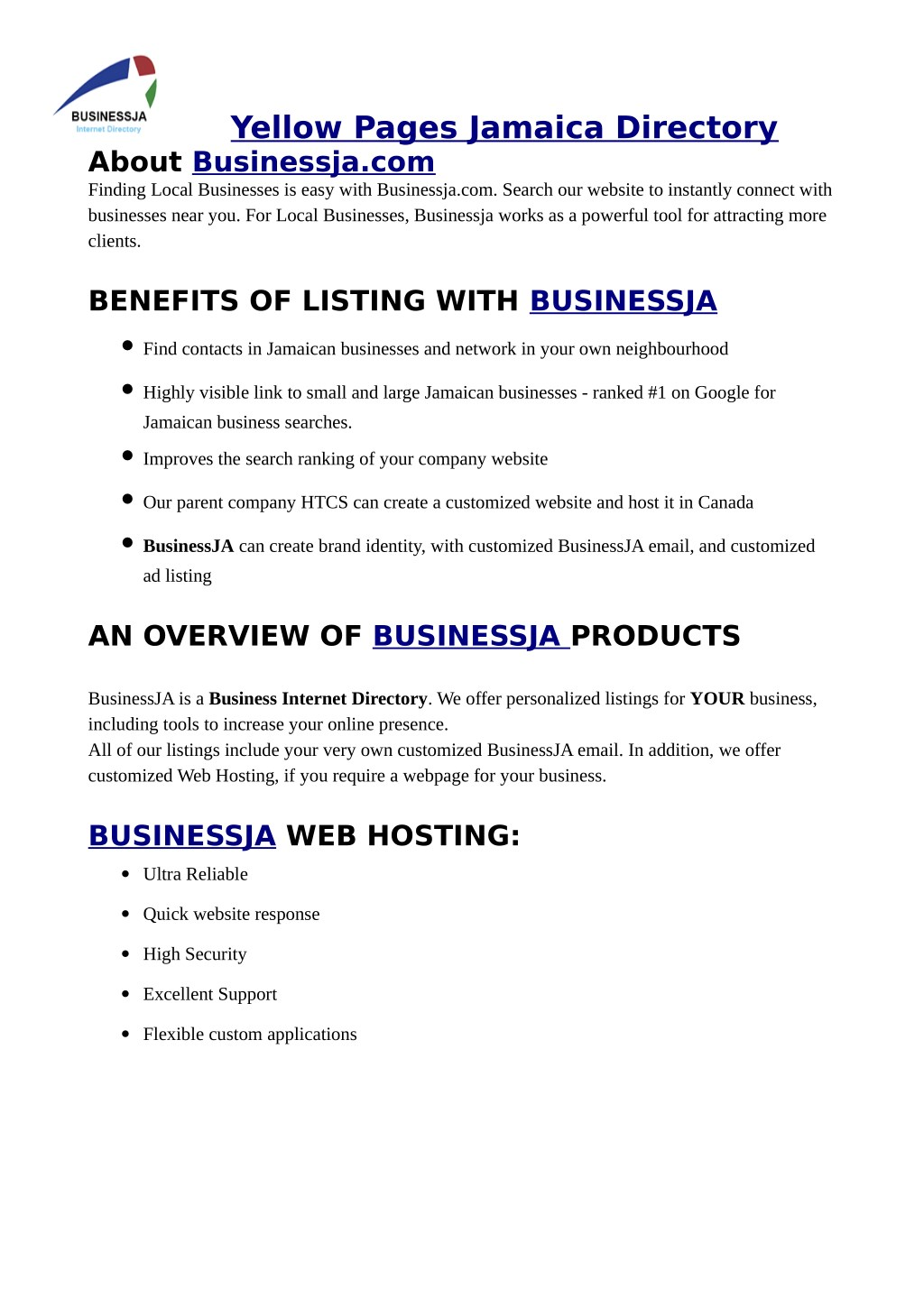 PPT - BusinessJA can provide information on Yellow Pages Jamaica