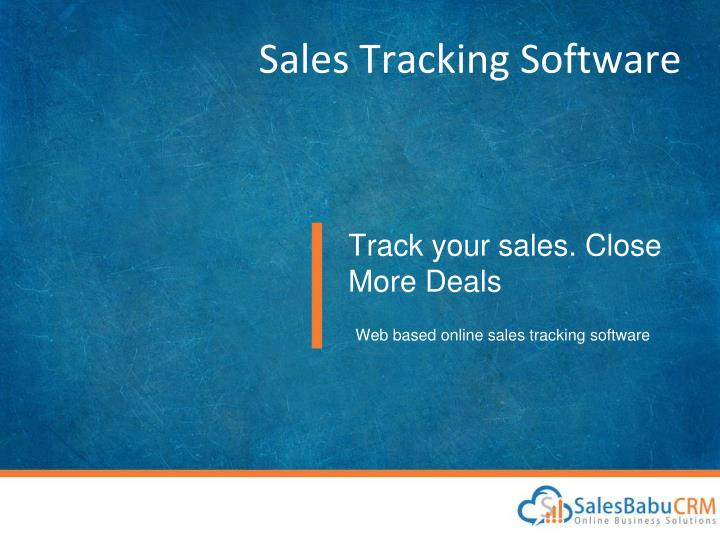 ppt salesbabu sales tracking software powerpoint presentation id