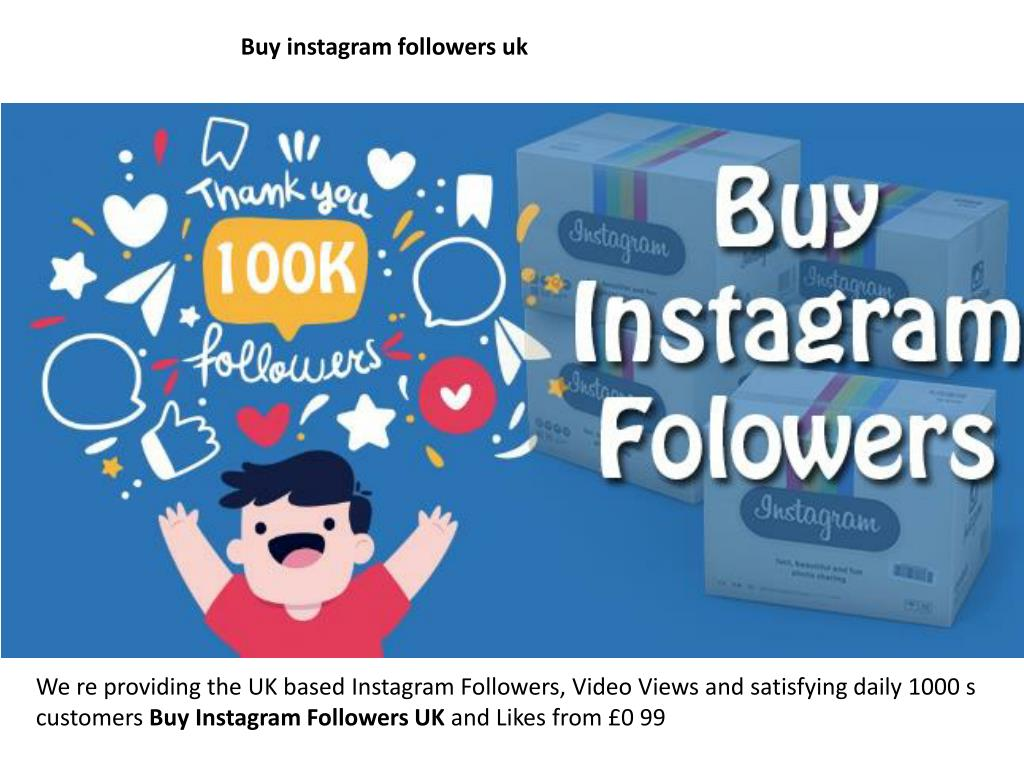 PPT - buy cheap instagram followers uk PowerPoint Presentati