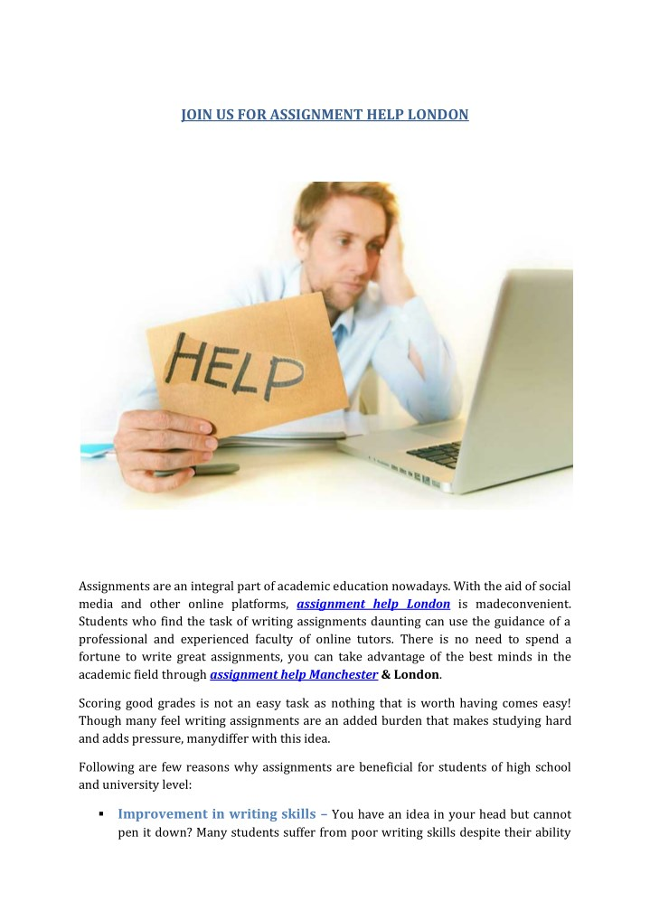 join us for assignment help london n.