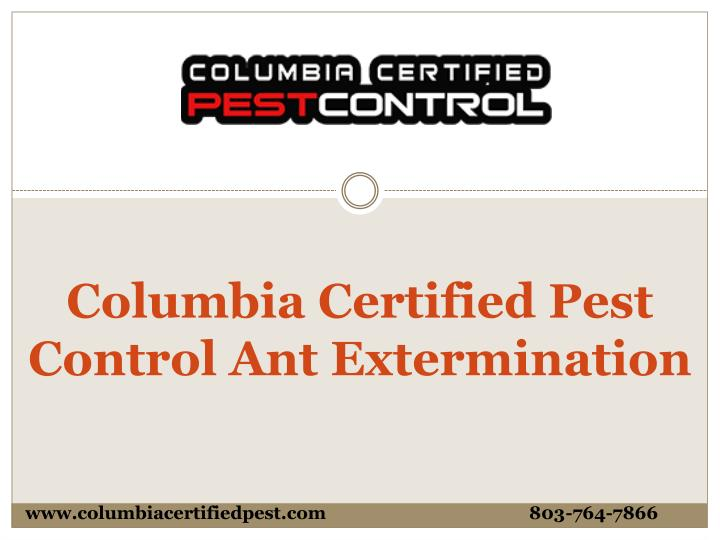 columbia certified pest control ant extermination n.