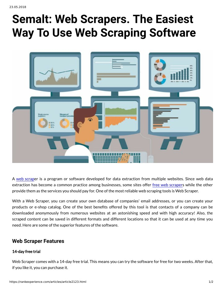 PPT - Semalt: Web Scrapers  The Easiest Way To Use Web