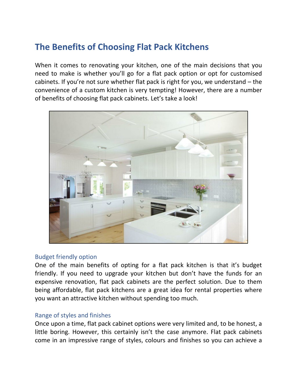 Flat Pack Kitchens >> Ppt The Benefits Of Choosing Flat Pack Kitchens Powerpoint