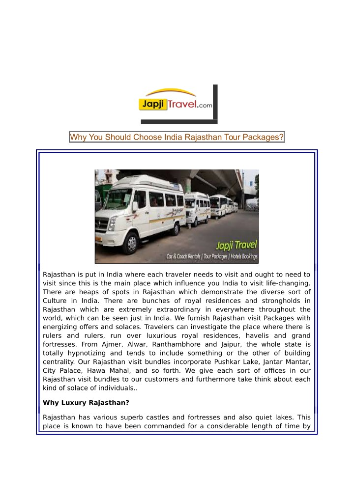 why you should choose india rajasthan tour n.