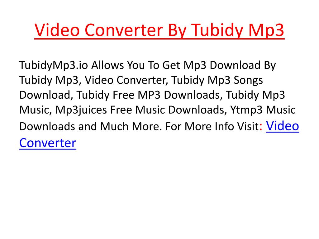 Ppt Video Converter By Tubidy Mp3 Powerpoint Presentation Free Download Id 7953028