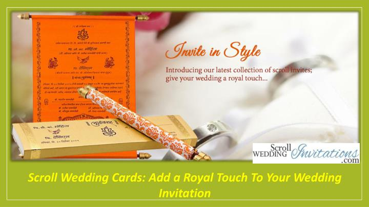 scroll wedding cards add a royal touch to your n.