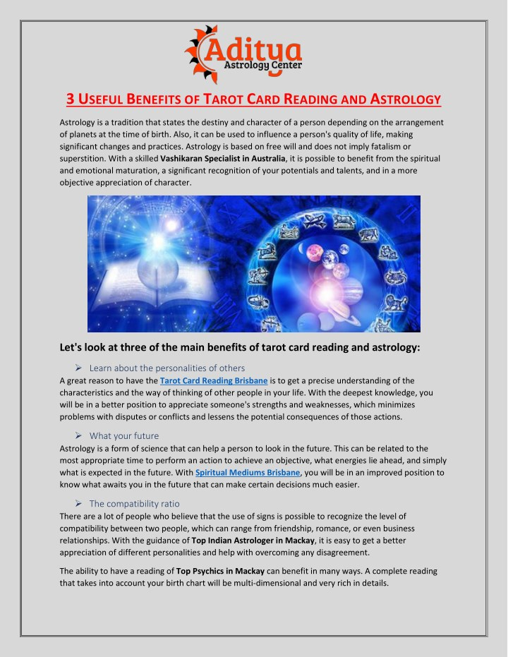 PPT - 3 Useful Benefits of Tarot Card Reading and Astrology