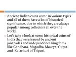 ancient indian coins come in various types