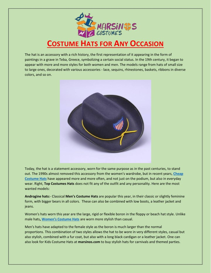 PPT - Costume Hats For Any Occasion PowerPoint Presentation - ID 7954691 3ad3733e29a7