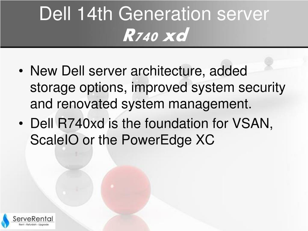 PPT - Dell Power Edge R740XD Server |Dell Rack server rental