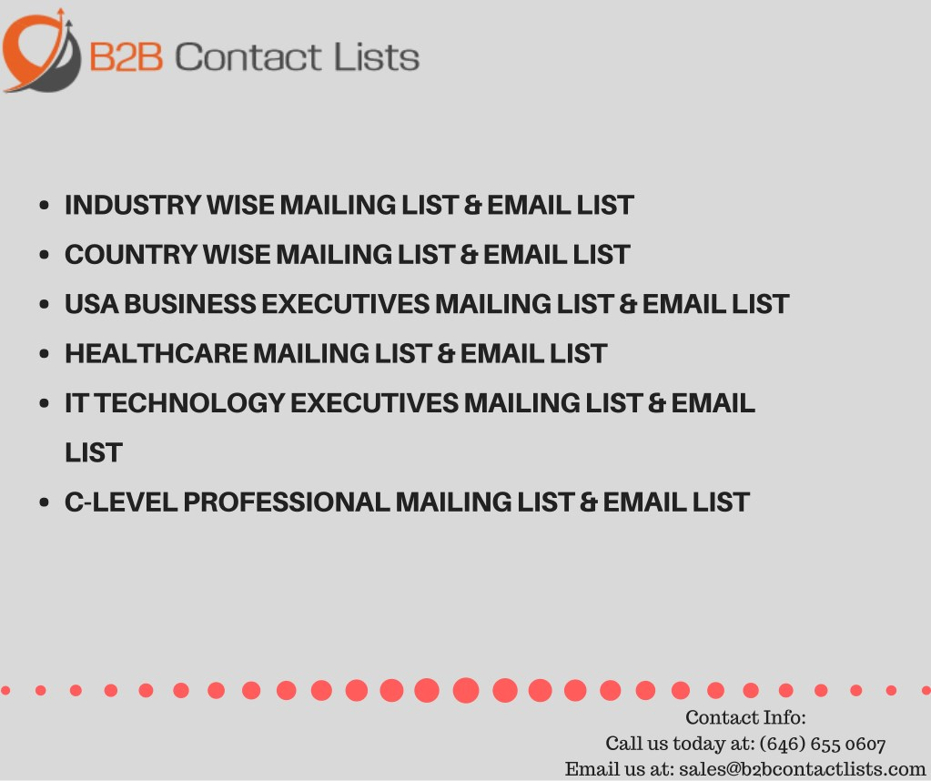 PPT - Business Email Lists| B2B Email Marketing Lists |USA Business