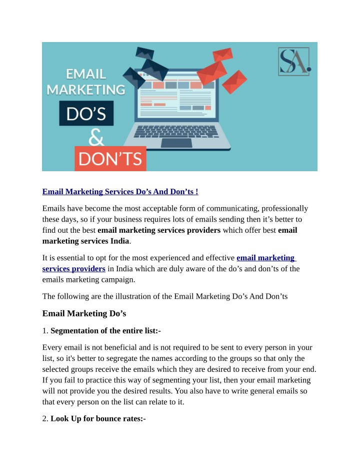 PPT - Email Marketing Services Do's And Don'ts ! PowerPoint