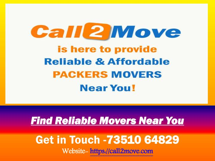 find reliable movers near you n.
