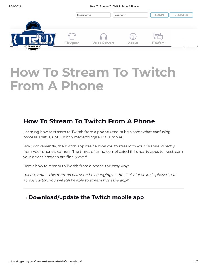 PPT - How To Stream To Twitch From A Phone PowerPoint