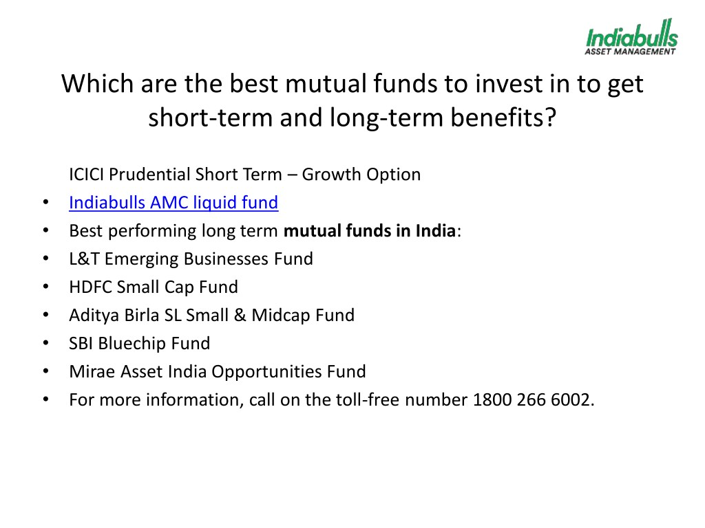 PPT - Which are the best mutual funds to invest in to get