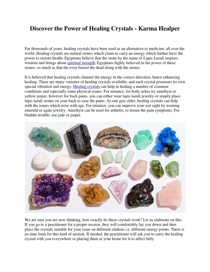 PPT - Discover the Power of Healing Crystals - Karma Healper