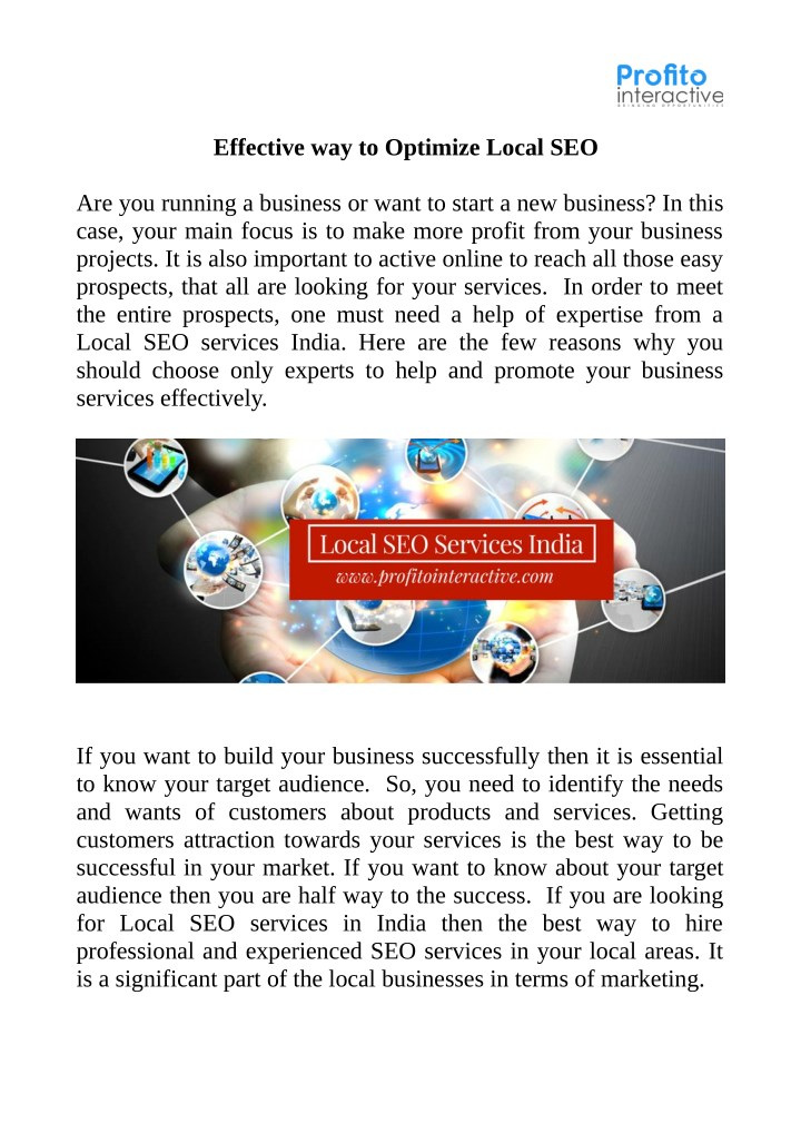 effective way to optimize local seo n.