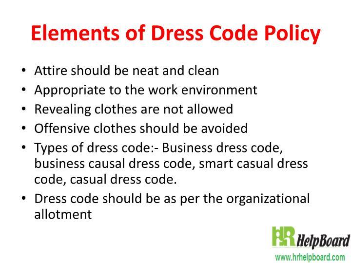 Ppt Dress Code Sample Policy Hrhelpboard Powerpoint Presentation