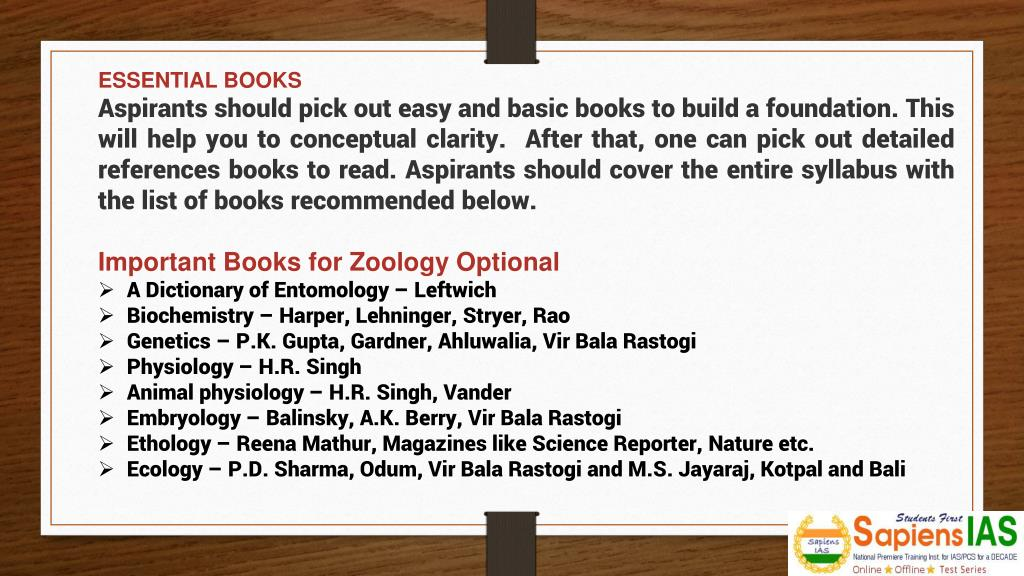 PPT - How to prepare for Zoology optional for UPSC IAS Mains