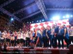 croatia players on stage during the parade