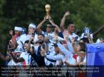 france s defender raphael varane holds the trophy