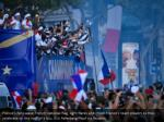 france s fans wave french national flag light