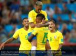 brazil s paulinho celebrates with neymar after