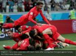 england s harry kane celebrates with team mates