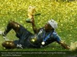 france s benjamin mendy celebrates with