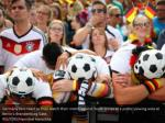 germany fans react as they watch their match