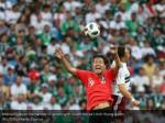 mexico s javier hernandez in action with south