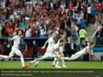 russia players celebrate after spain s iago aspas