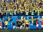 sweden players celebrate after their match