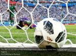 the ball hits the back of the net as argentina