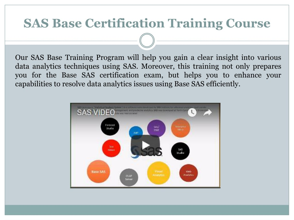 PPT - Scholars Pro - Base SAS training and certification