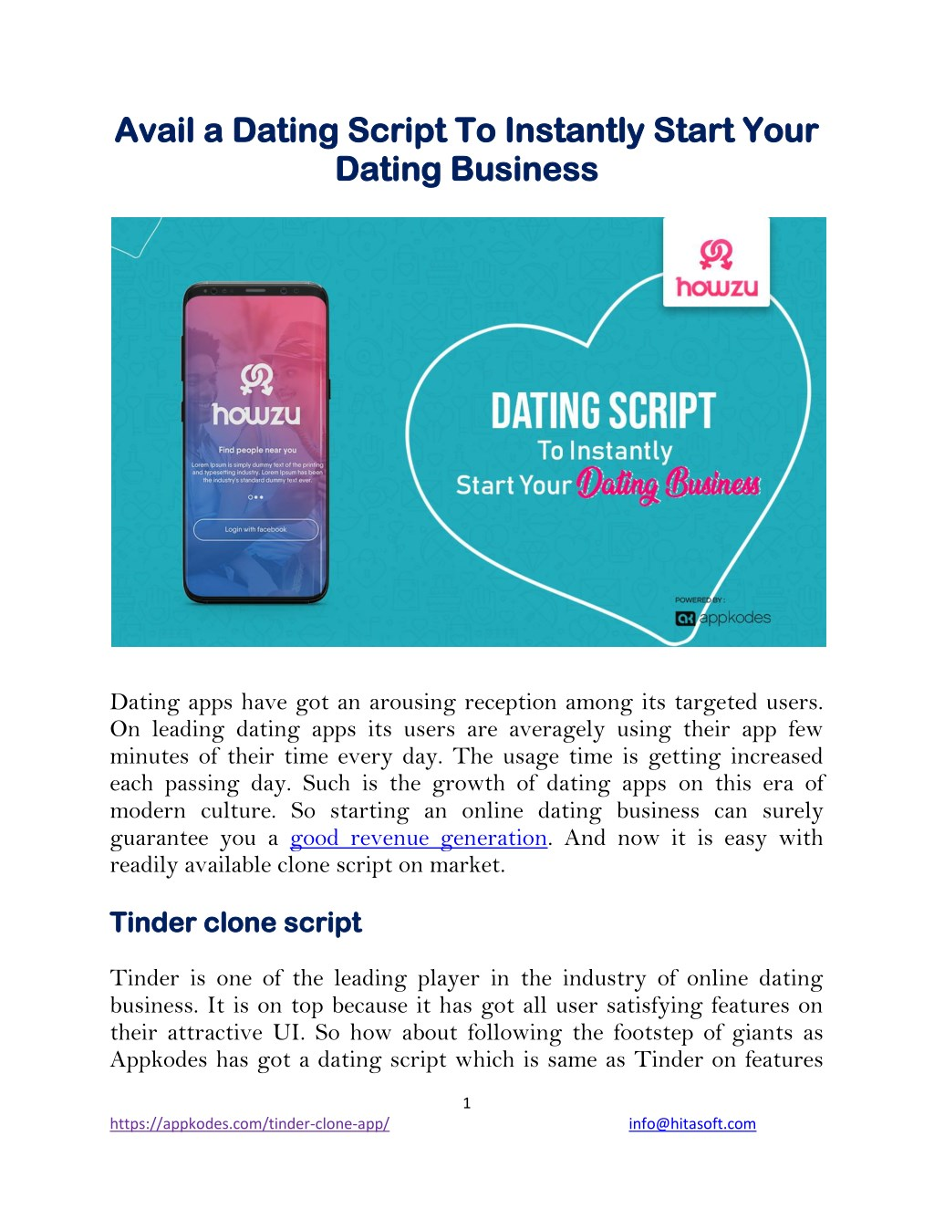 how to start a online dating business
