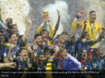 france s hugo lloris lifts the trophy as they