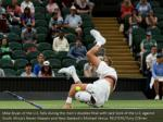 mike bryan of the u s falls during