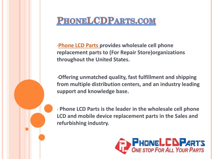 PPT - iPhone LCD Parts - Wholesaler of iPhone Samsung iPad